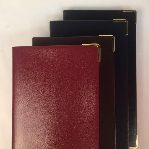 Passwords Address Book | Bonded Leather | 6 by 3 Inches | Hunter Green, Scarlet, Black, Brown, Navy, and Burgundy | Made in England | Charing Cross-Address Book-Sterling-and-Burke