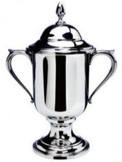 Loving Cup with Lid Award | Pewter | Large | Engraved | Handmade in USA-Paperweight-Sterling-and-Burke