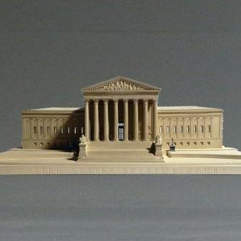 Supreme Court Sculpture | Custom Supreme Court Plaster Model | Extraordinary Quality and Detail | Made in England | Timothy Richards-Desk Accessory-Sterling-and-Burke