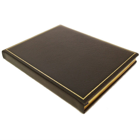 "Leather Notebook / Guest Book, 9"" x 7"" 