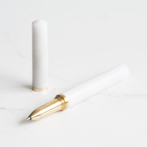 Custom Pen White Marble ~ The Studio Pen at Studio Burke
