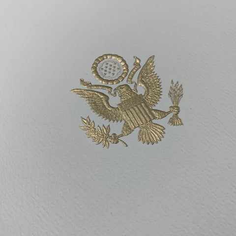 Program Cover | White House Seal | Gold Engraved Custom Seal on Cover | Highest Quality Engraving | Diplomatic Program Folder | by The Classic Desk