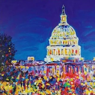 John Stango | Capitol Building Painting | Washington, DC's Capitol | Capitol Building at Night | Commissions Avail | Large Abstract | Gallery at Studio Burke Ltd - Washington, DC