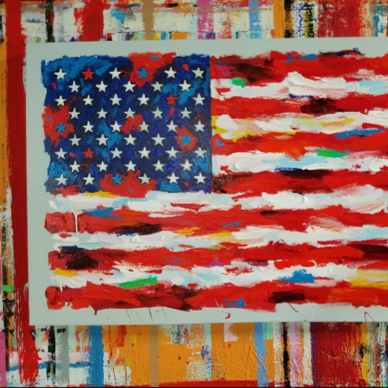 John Stango | American Flag II I Painting | USA Patriotic Artist | Washington, DC |