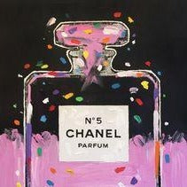 Painting by John Stango | Stango Gallery: Chanel | Chanel No.5 Perfume Bottle Pop Art | Gallery at Studio Burke Ltd, Washington, DC