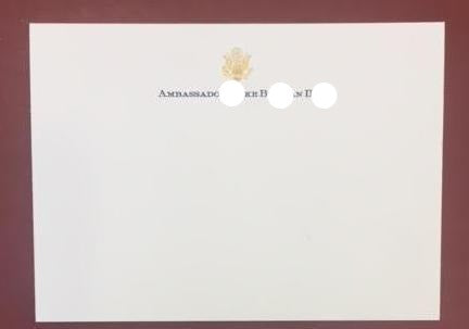 ***Bespoke Stationery | Correspondence Card and Envelope Set | Gold Eagle Seal and Text | Hand Engraved | Sterling and Burke Ltd-Custom Stationery-Sterling-and-Burke