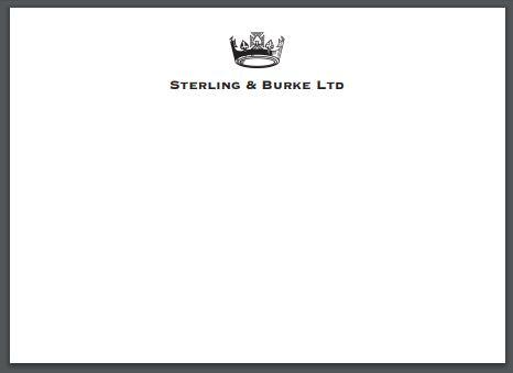 Pricing / Deposit | Bespoke Stationery | Large Correspondence Card / Invitation | 5 by 7 | Pearl White and Ecru | Hand Engraved | 100% Cotton Paper by Sterling and Burke Ltd-Custom Stationery-Sterling-and-Burke