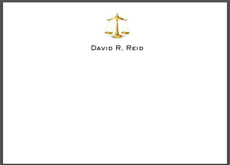 Bespoke Proof | Reid Stationery | Large Executive Correspondence Card Only | Gold Logo Seal and Text on Correspondence Card Only | Hand Engraved | Sterling and Burke Ltd-Custom Stationery-Sterling-and-Burke
