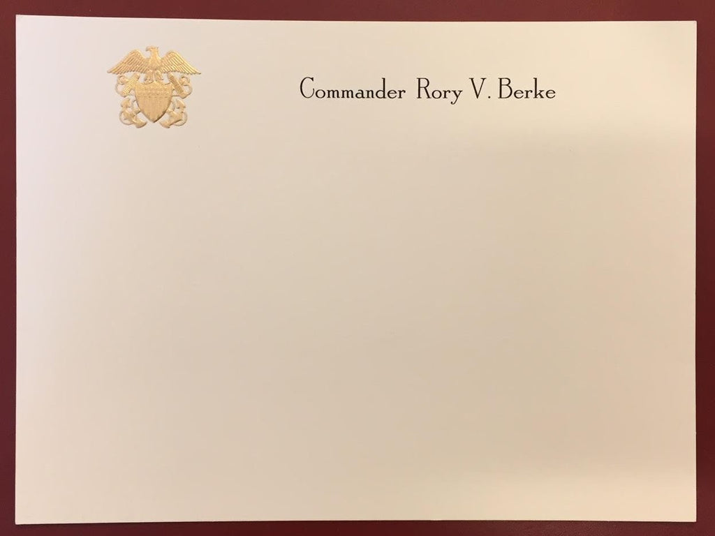 Bespoke Stationery | Large / Executive Correspondence Card Only | Gold Logo Seal and Text on Correspondence Card Only | Hand Engraved | Sterling and Burke Ltd-Custom Stationery-Sterling-and-Burke