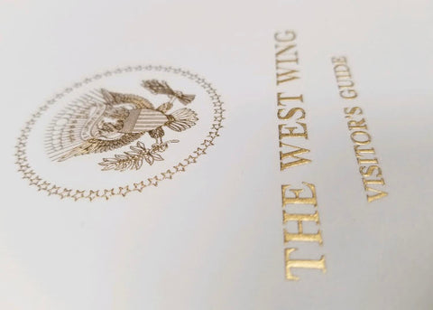 White House Stationery Samples | Hand Engraved | Foil Stamped | White House Visitors Guide Cover