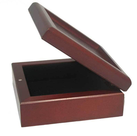 Desk Box | Stationery Box | Rosewood | Custom Made | 7 by 7 inches-Desk Accessory-Sterling-and-Burke