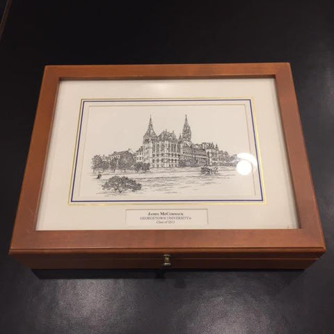 Georgetown University | Medium Desk Box | Sample-Desk Accessory-Sterling-and-Burke