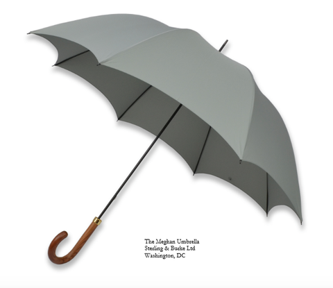 The Meghan Umbrella | A Ladies Royal Umbrella | Meghan Markle's Ladies Umbrella | Light Grey Canopy | Royal Umbrella | Made in England | Sterling and Burke-Ladies Umbrella-Sterling-and-Burke
