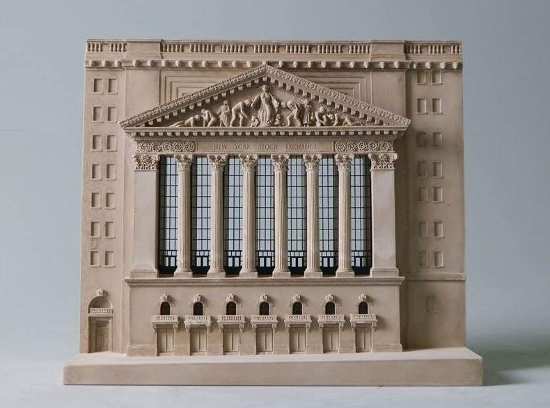 New York Stock Exchange Architectural Sculpture | Custom NYSE Statue | Building Model | Extraordinary Detail and Quality | Made in England | Timothy Richards-Desk Accessory-Sterling-and-Burke