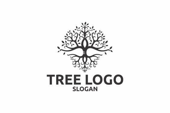 Tree Logos for Wedding Invitation | Wedding Motif | Tree Branches Design for Engraved Stationery-Graphic Art-Sterling-and-Burke