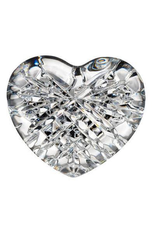 Waterford Crystal Heart Paperweight / Hand Cooler-Crystal-Sterling-and-Burke