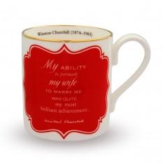 Halcyon Days Winston Churchill, My Most Brilliant Achievement... Mug-Mug-Sterling-and-Burke