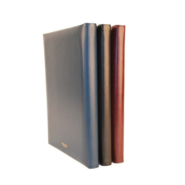Guest Book | Large Format | Luxury Bespoke Hand Bookbinding | Navy Leather | Hand Marbled Lining | Made in England-Guest Book-Sterling-and-Burke