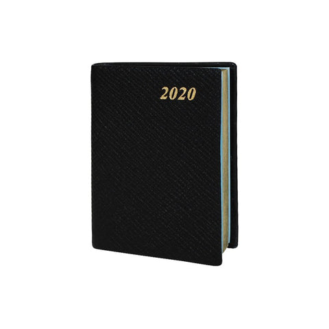 "2020 3"" Crossgrain Leather Pocket Calendar 