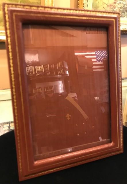 "Charing Cross Picture Frame | Brown | With Gold Tooling | 10"" by 8""-Picture Frame-Sterling-and-Burke"