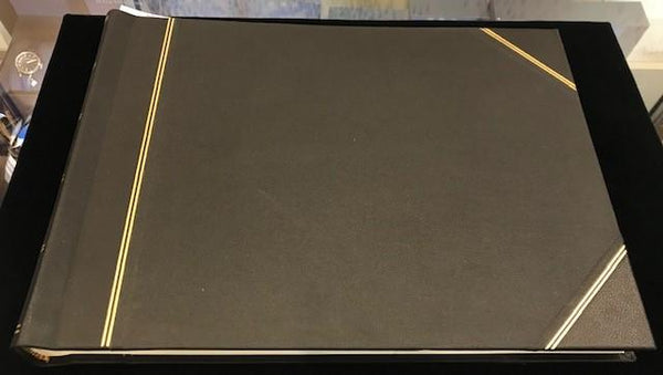 "Leatherbound Scrapbook | Photo Album | Charing Cross | With Tissue Paper | 10"" x 14""-Photo Album-Sterling-and-Burke"