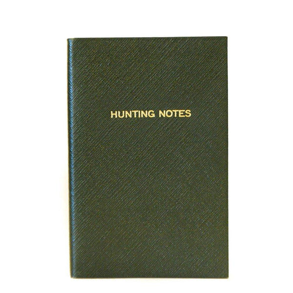 "Crossgrain Leather Notebook, 7x4, ""Hunting Notes""-Titled Notebooks-Sterling-and-Burke"