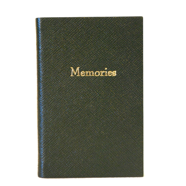 "Crossgrain Leather Notebook, 6x4, ""Memories""-Titled Notebooks-Sterling-and-Burke"