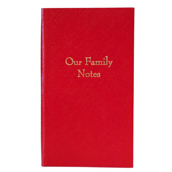 "Crossgrain Leather Notebook, 7x4, ""Our Family Notes""-Titled Notebooks-Sterling-and-Burke"