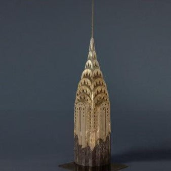 Limited Edition Chrysler Building Sculpture | Custom Chrysler Building Plaster Model | Extraordinary Quality and Detail | Made in England | Timothy Richards-Desk Accessory-Sterling-and-Burke