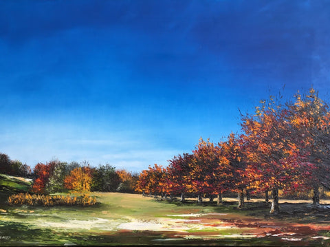"Art | A Day for Golf | Original Oil Painting by Claire Howard | 24"" x 36""-Oil Painting-Sterling-and-Burke"