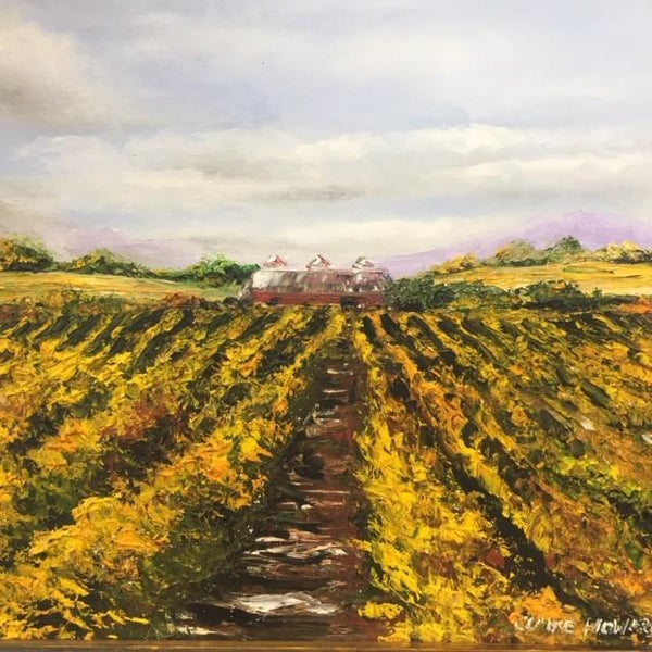 "Art | After the Wine Harvest | Oil Painting by Claire Howard | 16"" by 19""-Oil Painting-Sterling-and-Burke"