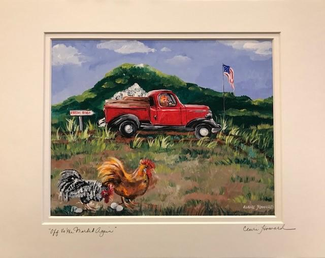 "Art | Off to the Market Again | Giclee by Claire Howard | 8"" x 10""-Giclee Print-Sterling-and-Burke"