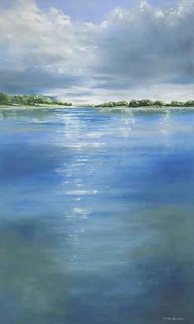 "Art | Sunday on the Potomac | Washington, DC Art | Original Oil Painting by Claire Howard | 60"" x 36""-Oil Painting-Sterling-and-Burke"