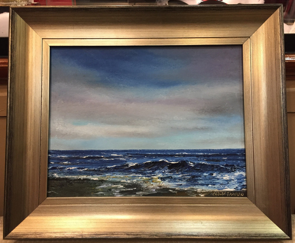 "Art | Twilight Tides I I Oil Painting by Claire Howard | 15.5"" by 18""-Oil Painting-Sterling-and-Burke"
