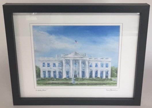 "The White House | Gallery at Sterling & Burke Ltd | 12"" x 15"" 