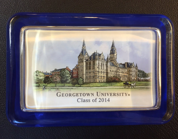 Georgetown University | Class of 2014 | Paperweight | Sample-Desk Accessory-Sterling-and-Burke