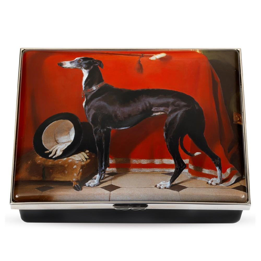 Halcyon Days Enamel Eos by Landseer Enamel Box, Large-Enamel Box-Sterling-and-Burke