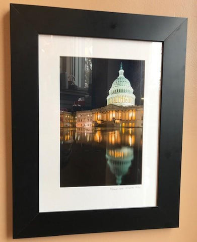 "Capitol at Night | Photograph by Frank Lee Ruggles | 20"" x 16""-Photography-Sterling-and-Burke"