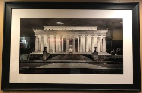 "Art | Lincoln Memorial At Night by Frank Lee Ruggles | 36"" x 55""-Photography-Sterling-and-Burke"