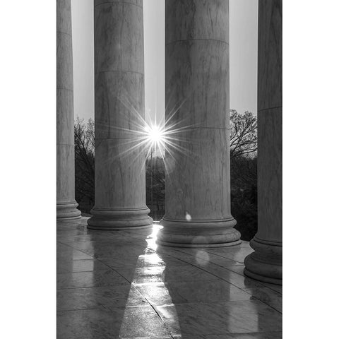 "Lincoln Memorial Columns with Sun | Photograph by Frank Lee Ruggles | 20"" x 16""-Photography-Sterling-and-Burke"
