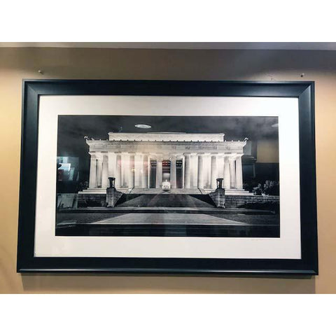"Art | Lincoln Memorial At Night by Frank Lee Ruggles | 22.5"" x 33.5""-Photography-Sterling-and-Burke"