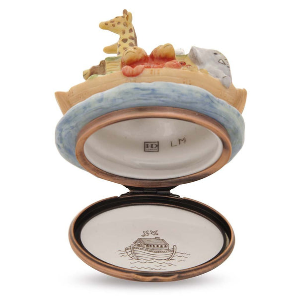 Halcyon Days Noah's Ark Bonbonniere Enamel Box-Enamel Box-Sterling-and-Burke