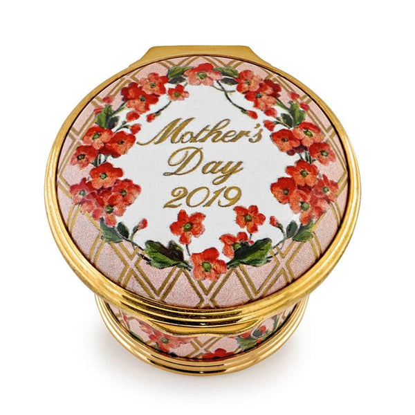 Halcyon Days Mother's Day 2019 Enamel Box-Enamel Box-Sterling-and-Burke