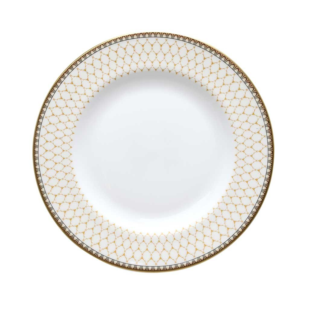 "Halcyon Days Antler Trellis 6"" Plate in Ivory-Bone China-Sterling-and-Burke"