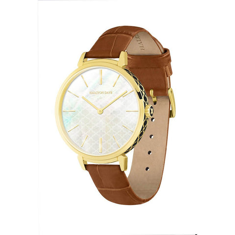 Halcyon Days Agama Sport Watch in Brown and Gold-Ladies Watch-Sterling-and-Burke