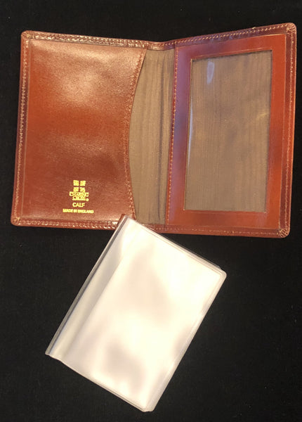 Charing Cross Card Case with Window and Removable Plastic Card Insert | Smooth Calf Leather | Made in England | Sterling and Burke-Business Card Case-Sterling-and-Burke