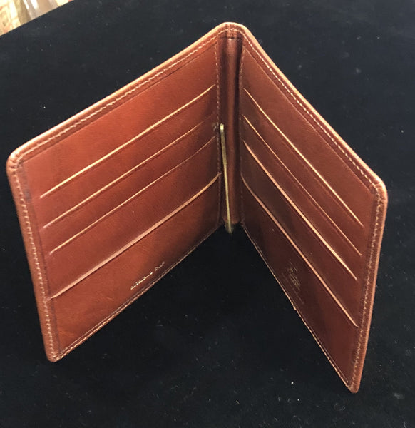 Charing Cross Medium Card Holder / Wallet | Hip Wallet with Money Clip | Highland Calf Leather | 8 Cards | Tan | Sterling and Burke-Wallet-Sterling-and-Burke