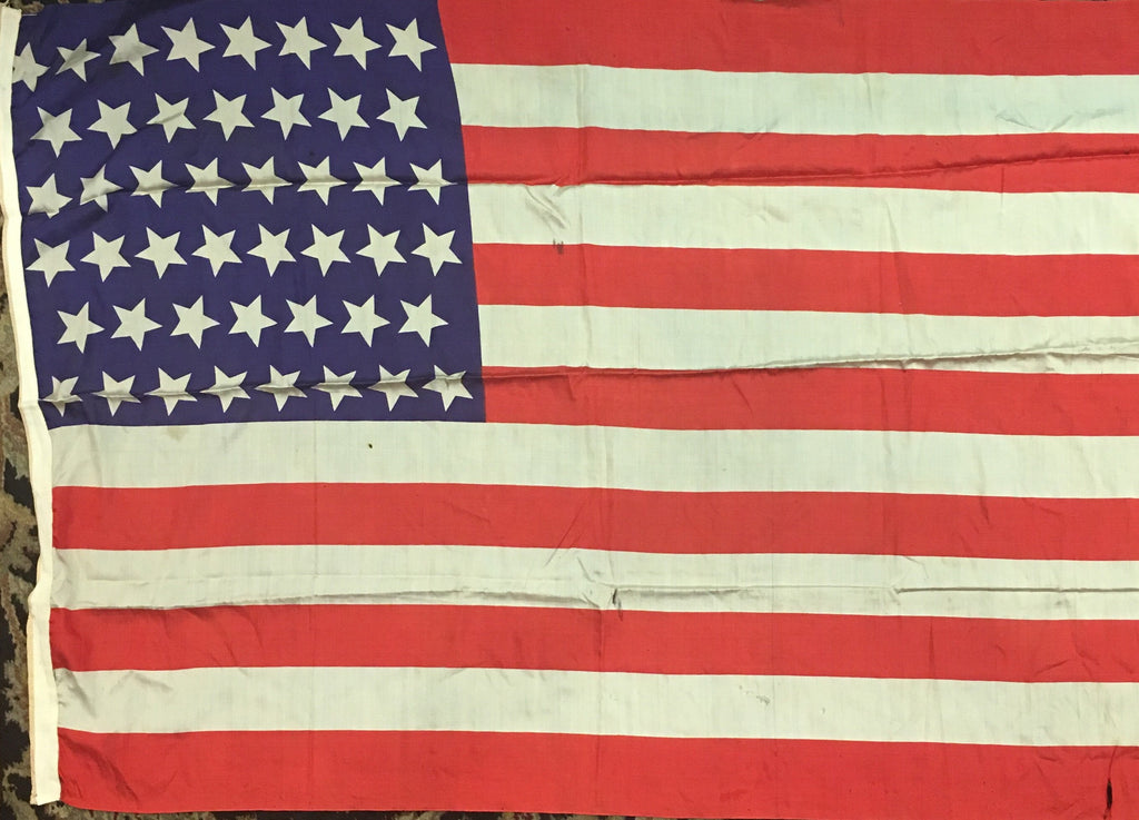 "American Flag | 48 Star Vintage US Flag | Silk | 45"" x 32"" 