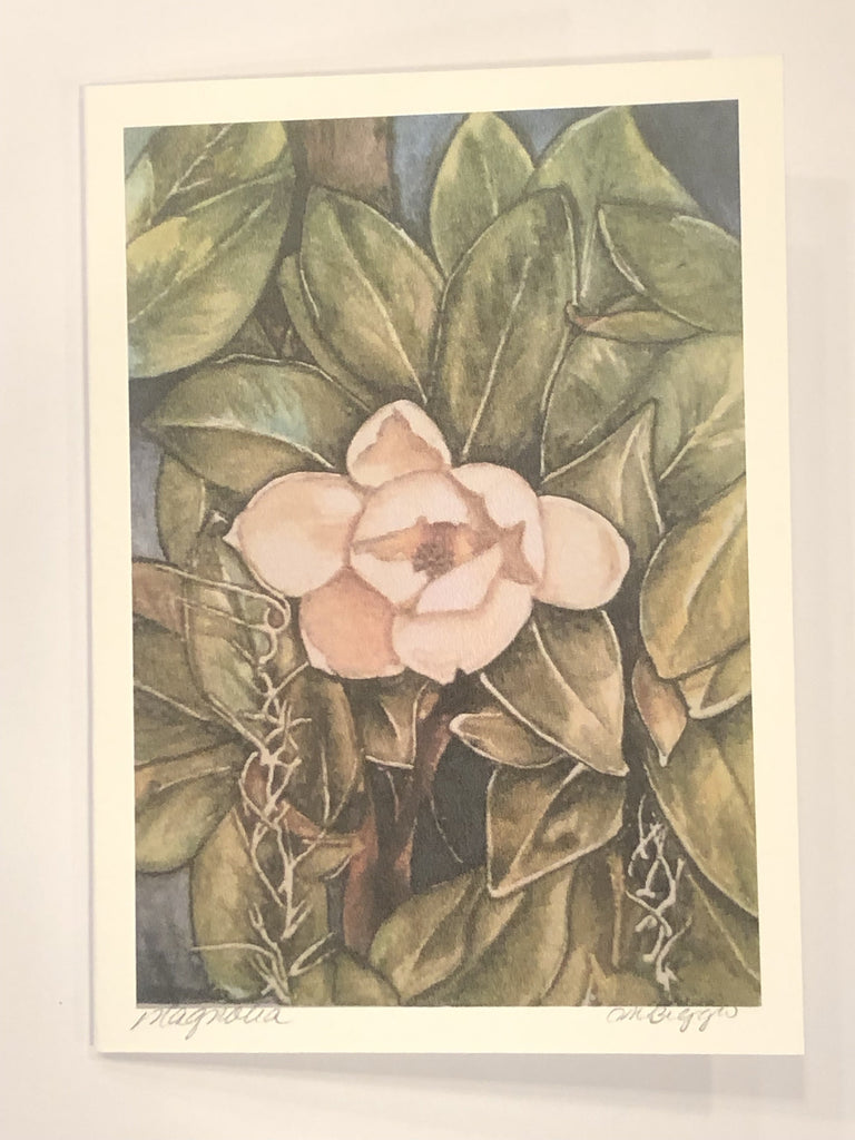 "Magnolia | 140# Print Card by Carole Moore Biggio | 7"" x 5""-Greeting Cards-Sterling-and-Burke"