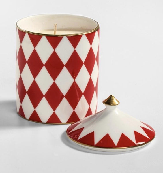Halcyon Days Parterre Cinnamon and Orange Lidded Candle in Red-Candle-Sterling-and-Burke
